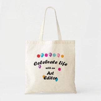 Celebre el redactor de arte bolsas