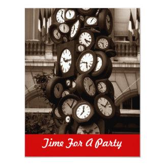 Celebre el tiempo de reloj de los relojes para una invitación 10,8 x 13,9 cm