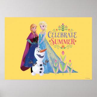 Celebre el verano póster