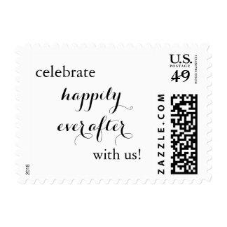 Celebre feliz nunca después de casar franqueo sellos