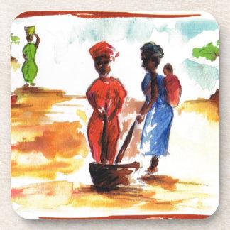 Celebre Kwanzaa vida del pueblo de África Posavasos