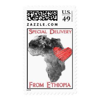 Celebre la adopción etíope franqueo