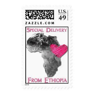Celebre la adopción etíope sellos postales