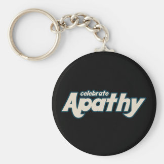 Celebre la apatía llavero redondo tipo pin
