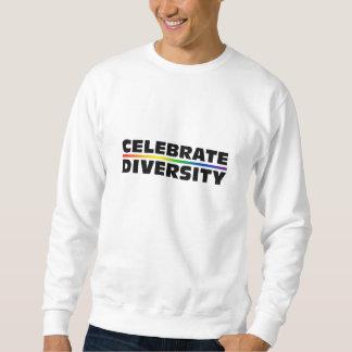 Celebre la camiseta básica de la diversidad sudadera con capucha