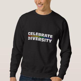 Celebre la camiseta básica oscura de la diversidad jersey