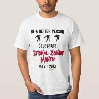 Celebre la camiseta divertida del mes nacional del remeras