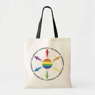 Celebre la diversidad bolsa de mano