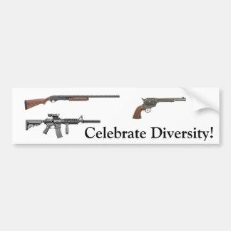 ¡Celebre la diversidad! Pegatina De Parachoque