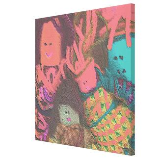 Celebre la diversidad - exclusión de la inclusión impresiones de lienzo