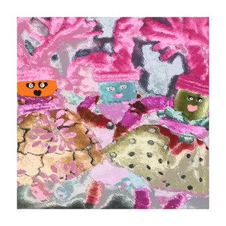 Celebre la diversidad - exclusión de la inclusión impresiones en lienzo estiradas