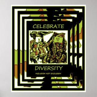 Celebre la diversidad - exclusión de la inclusión póster