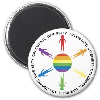 Celebre la diversidad imanes de nevera