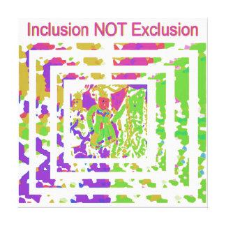 Celebre la diversidad - Inclusión-NO-Exclusión Impresión En Lona Estirada