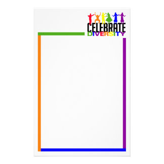 Celebre la diversidad inmóvil, personalizable papeleria