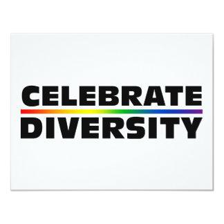 """Celebre la diversidad invitación 4.25"""" x 5.5"""""""