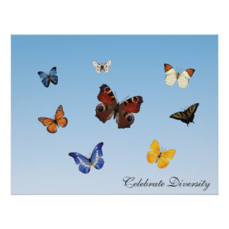 Celebre la diversidad posters