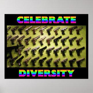 Celebre la diversidad póster