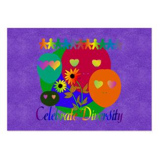 Celebre la diversidad tarjetas de visita grandes