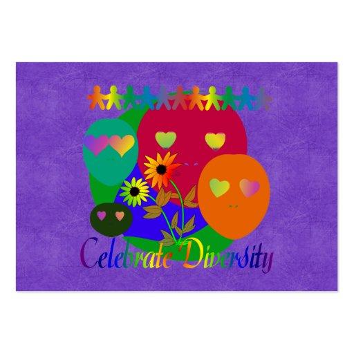 Celebre la diversidad plantillas de tarjetas personales