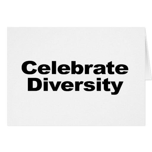 Celebre la diversidad tarjeta de felicitación