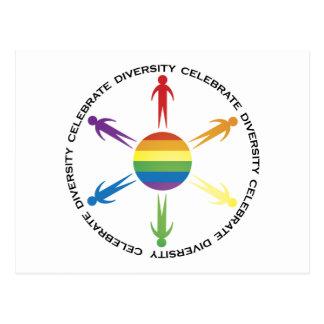 Celebre la diversidad tarjetas postales