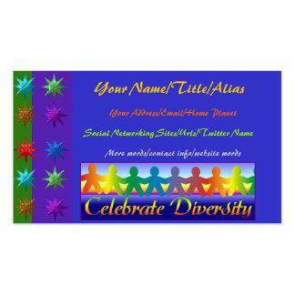 Celebre la diversidad tarjetas de visita