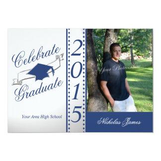 Celebre la foto azul graduada 2015
