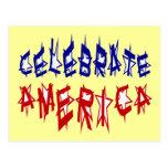 Celebre la fuente #2 de la bandera de América Postal
