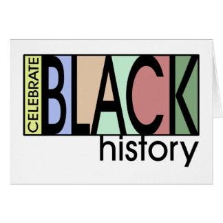 Celebre la historia BHM Notecards Tarjeta Pequeña