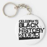 CELEBRE la HISTORIA NEGRA 24x365 Llaveros Personalizados