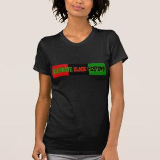 Celebre la historia negra--Bandera roja, negra y Camiseta