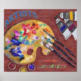 Celebre la impresión de los artistas poster