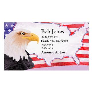 Celebre la independencia Eagle Tarjetas De Visita