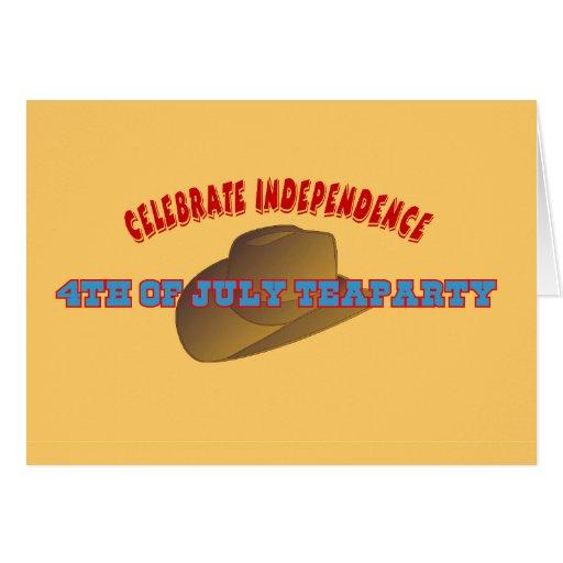 Celebre la independencia felicitación