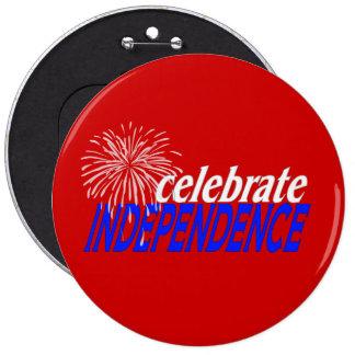 Celebre la independencia pin redondo 15 cm