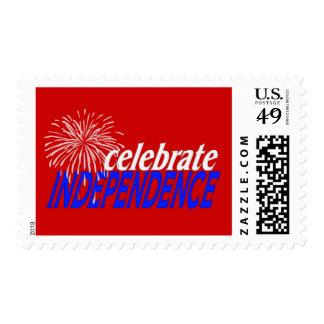 Celebre la independencia sellos