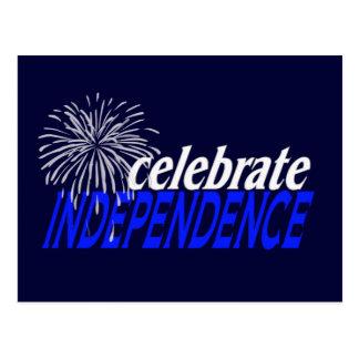 Celebre la independencia tarjetas postales