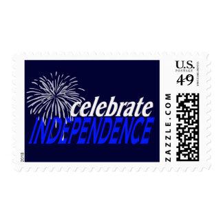 Celebre la independencia timbres postales
