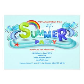 Celebre la invitación del verano