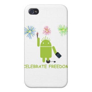 Celebre la libertad el analista de programas info iPhone 4 carcasa