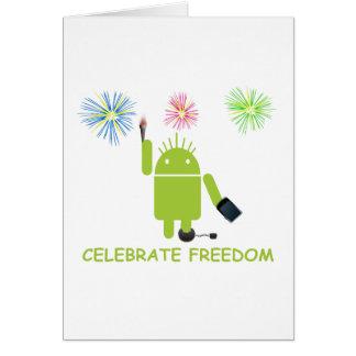 Celebre la libertad (el analista de programas info felicitacion