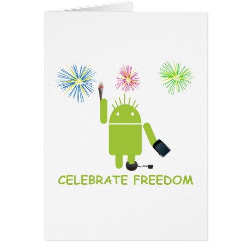 Celebre la libertad (el analista de programas tarjeta de felicitación