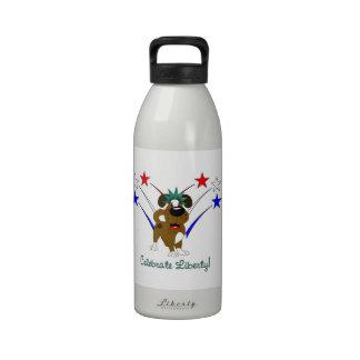 Celebre la libertad - fuegos artificiales botellas de agua reutilizables