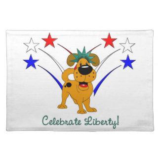 Celebre la libertad - fuegos artificiales manteles