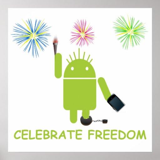 Celebre la libertad (la estatua de la libertad póster