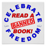 ¡Celebre la libertad!  ¡Lea un libro PROHIBIDO! Impresiones