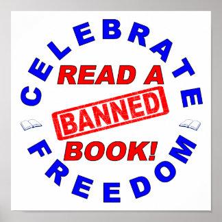 ¡Celebre la libertad ¡Lea un libro PROHIBIDO Impresiones