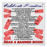¡Celebre la libertad!  ¡Lea un libro PROHIBIDO! (s Posters