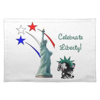 Celebre la libertad manteles individuales